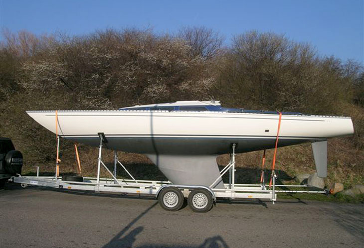 Boot mit Trailer